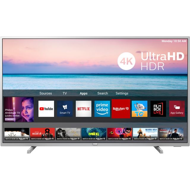 "Philips 65PUS6554 65"" Smart 4K Ultra HD TV with HDR10+, Dolby Vision, Dolby Atmos and Freeview Play"