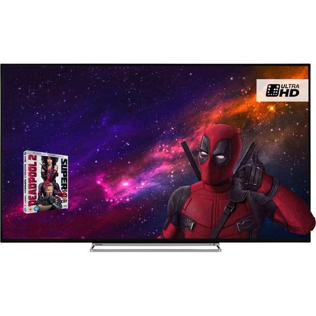"Toshiba 65"" Smart 4K Ultra HD TV with HDR and Freeview Play - Black Gloss - [A+ Rated]"