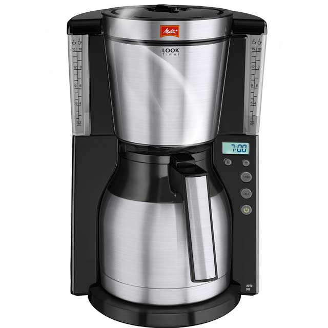Melitta Look IV Therm Timer 6738044 Filter Coffee Machine with Timer - Black