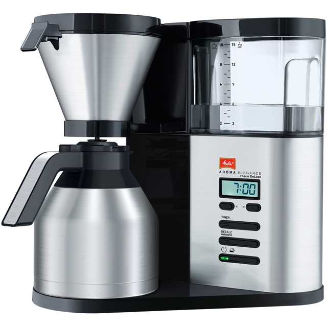 Melitta AromaElegance® Therm Deluxe 6759688 Filter Coffee Machine with Timer - Stainless Steel - 6759688_SS - 1