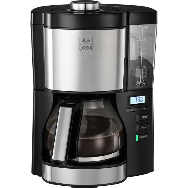 Melitta Look V Timer Black 1025-08 6766591 Filter Coffee Machine with Timer - Black / Stainless Steel - 6766591_BS - 1