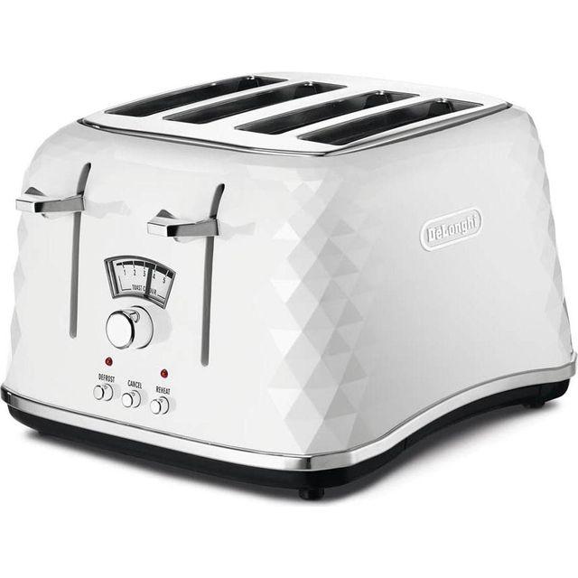 De'Longhi Brillante CTJ4003.W 4 Slice Toaster - White
