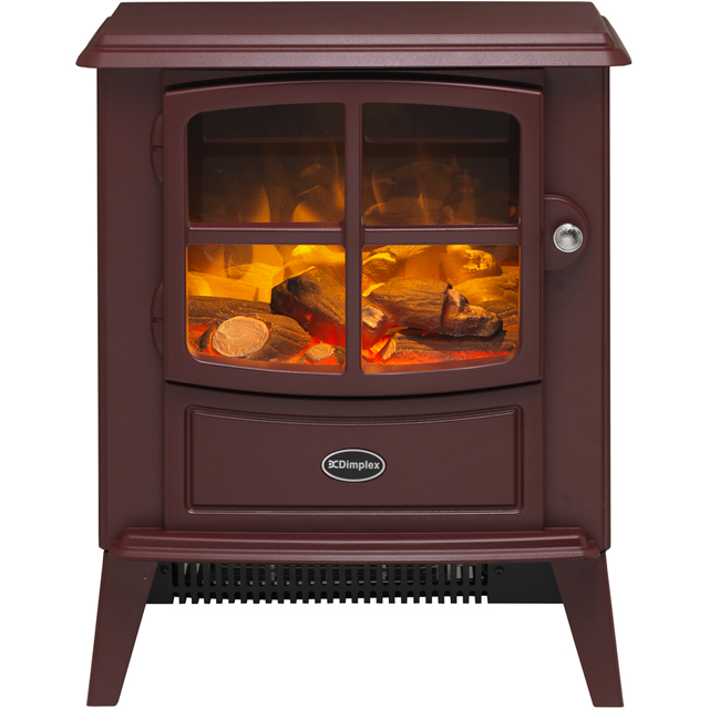 Dimplex Brayford 68392 Log Effect Electric Stove With Remote Control - Burgundy