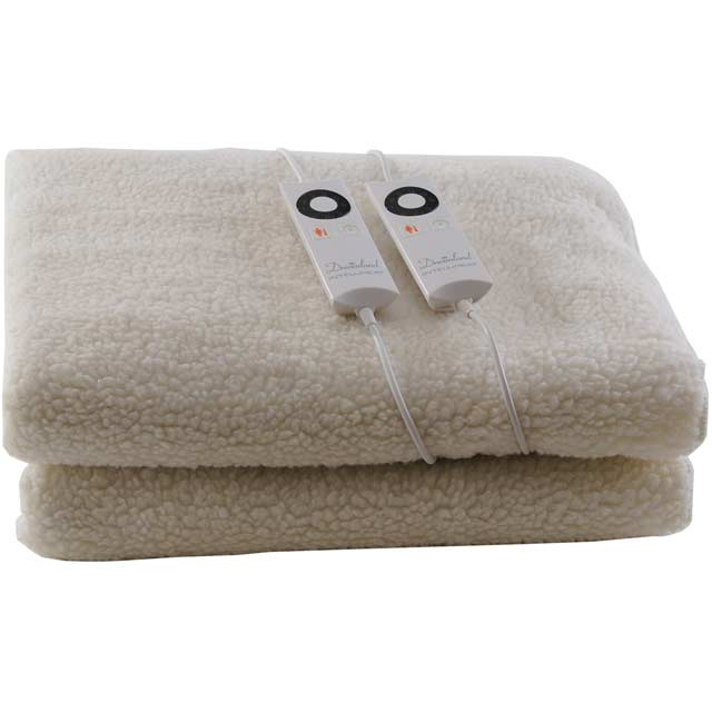 Dreamland Soft Fleece Dual Control 6967 Electric Blanket - White - 6967_WH - 1