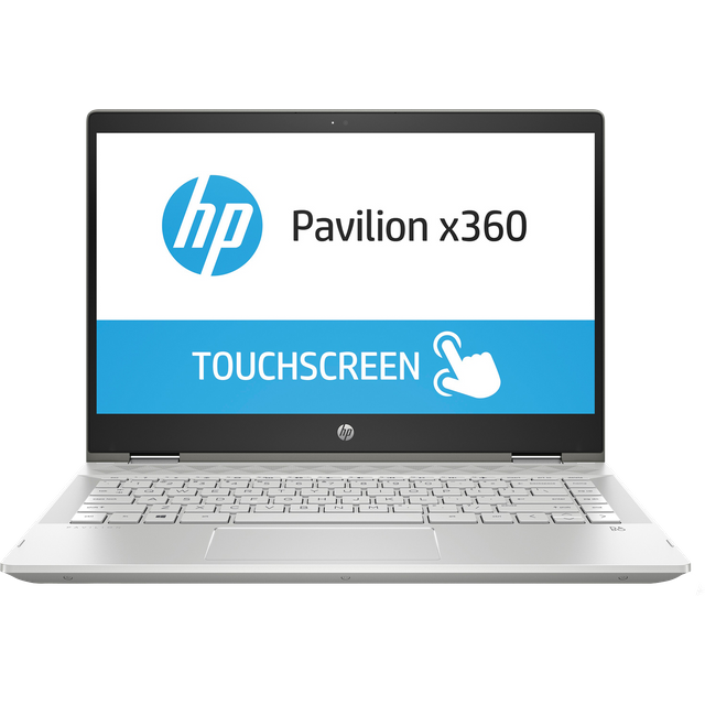 "HP Pavilion 14-cd1004na 14"" 2-in-1 Laptop - Mineral Silver - 6AR04EA#ABU - 1"