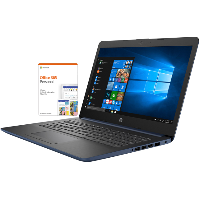 "HP 14-cm0038na 14"" Laptop Includes Office 365 Personal 1-year subscription with 1TB Cloud Storage - Blue - 6ZJ50EA#ABU - 1"