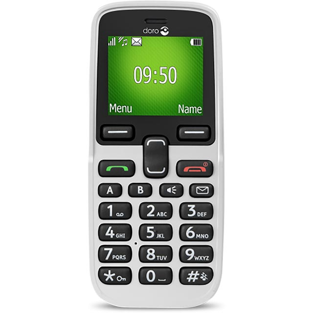 Doro 5030 Candy Bar Phone in White