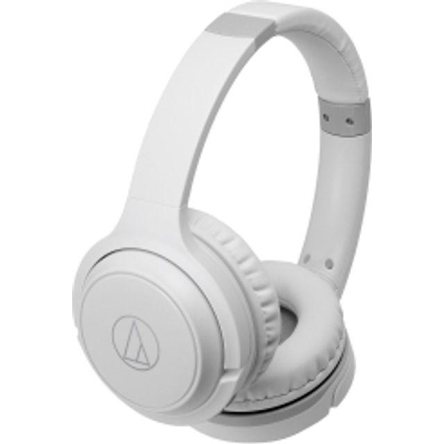 Image of Audio Technica ATH-S200BT Head-band Bluetooth Headphones - White