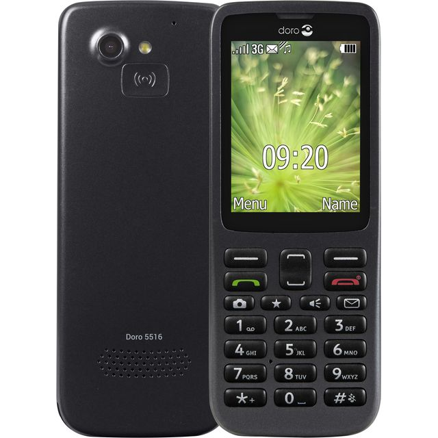 Image of Doro 5516 Candy Bar Phone in Black
