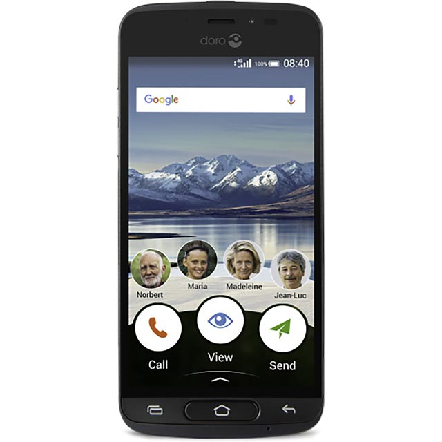Doro 8040 16GB Smartphone in Black
