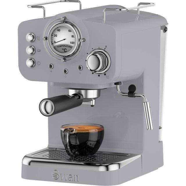 Swan Retro SK22110GRN Espresso Coffee Machine - Grey