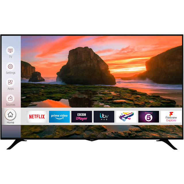 "Techwood 75AO8UHD 75"" Smart 4K Ultra HD TV with HDR and Freeview Play - 75AO8UHD - 1"