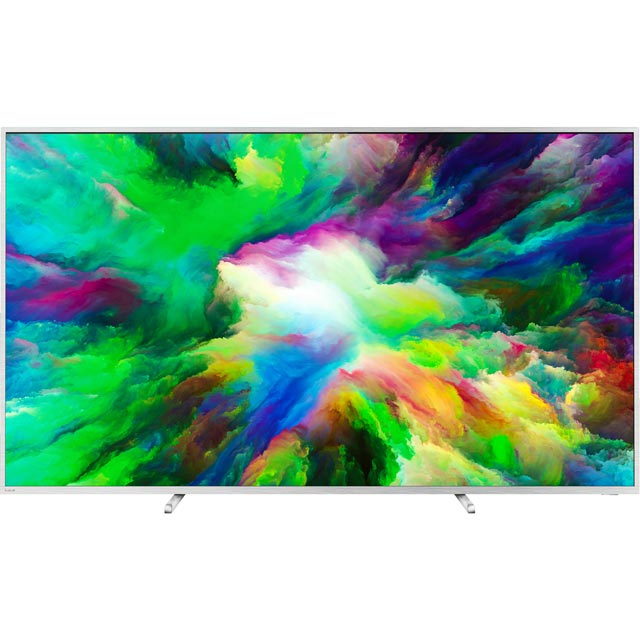 "Philips 75PUS7803/12 75"" Smart Ambilight 4K Ultra HD TV with HDR and HDR10, HLG - Metallic Silver - [A+ Rated] - 75PUS7803/12 - 1"