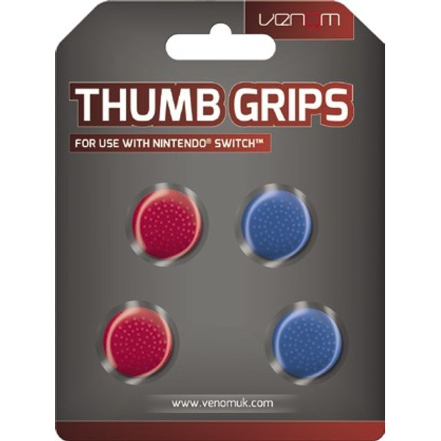 Venom Thumb Grips For Nintendo Switch - Red / Blue