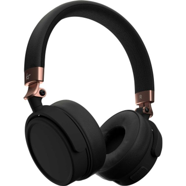 Image of Kitsound Accent 60 Head-band Bluetooth Headphones - Black / Rose Gold
