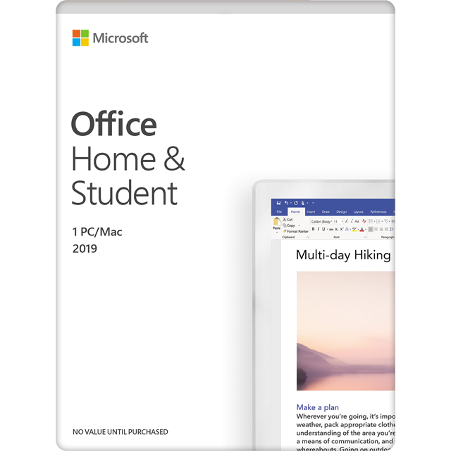 Microsoft Office Home and Student 2019 Digital Download for 1 User - One Time Purchase - 79G-05018 - 1