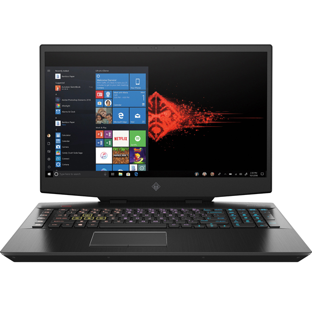 "HP Omen 17-cb0005na 17.3"" Gaming Laptop - Shadow Black - 7EC51EA#ABU - 1"