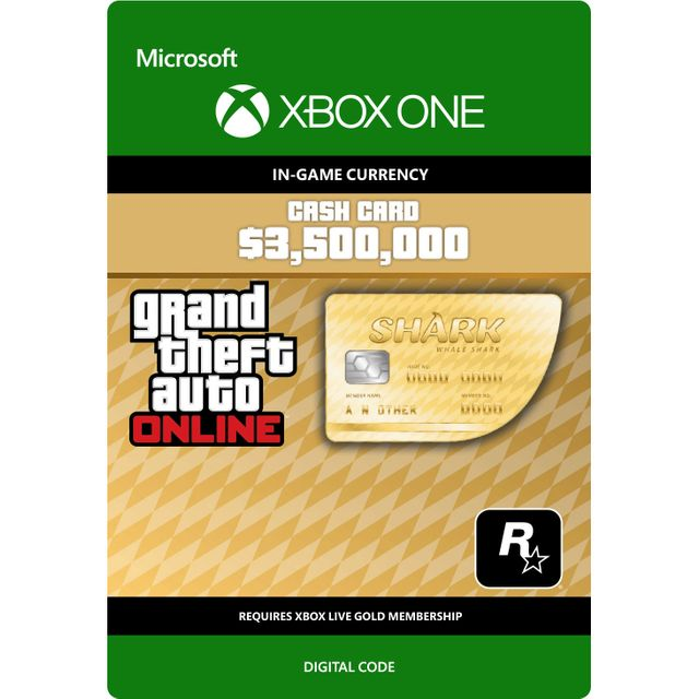 Grand Theft Auto V Whale Shark Cash Card For Xbox One Digital Download