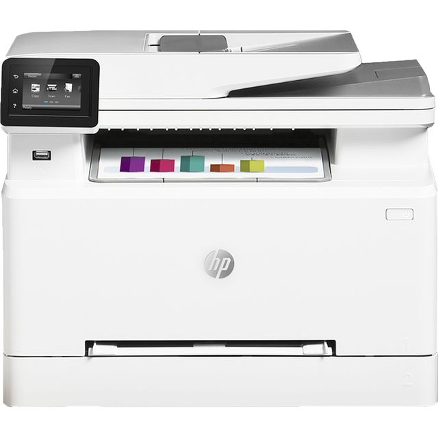 HP Colour MFP M283fdw Laser Printer - White