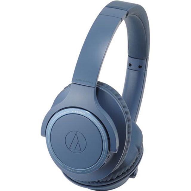 Image of Audio Technica ATH-SR30BT Head-band Bluetooth Headphones - Blue