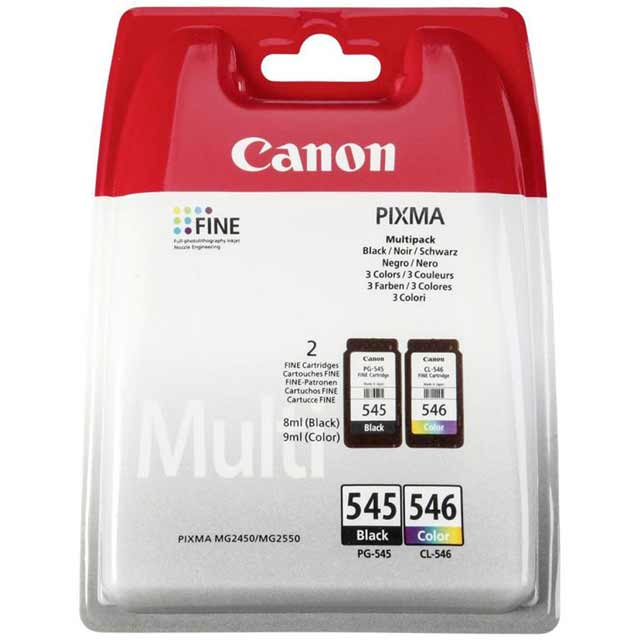 Canon PG-545/CL-546 BK/C/M/Y Ink Cartridge Multipack