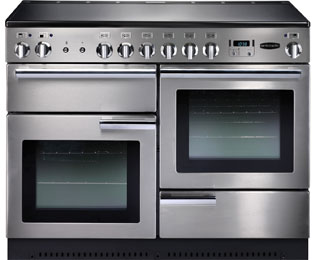 Rangemaster Professional Plus PROP110ECSS/C 110cm Electric Range Cooker with Ceramic Hob - Stainless Steel - A Rated - PROP110ECSS/C_SS - 1
