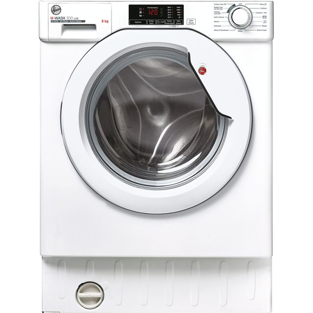 Hoover HBWS48D1E Built In Washing Machine - White - HBWS48D1E_WH - 1