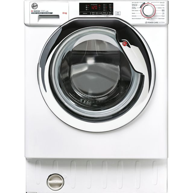 Hoover HBWS48D1ACE Built In Washing Machine - White - HBWS48D1ACE_WH - 1