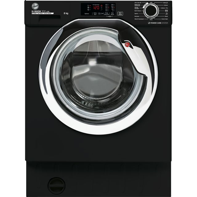 Hoover HBWS48D3ACBE Built In Washing Machine - Black - HBWS48D3ACBE_BK - 1