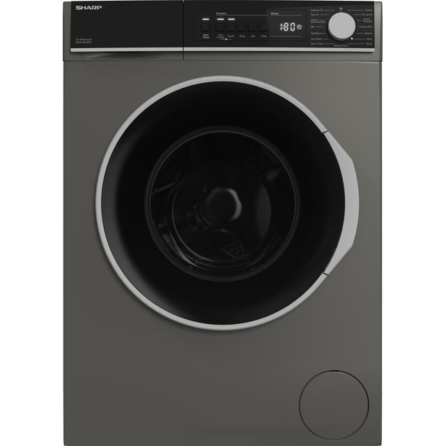 Sharp ES-NFB814AAC-EN 8Kg Washing Machine with 1400 rpm - Graphite - C Rated
