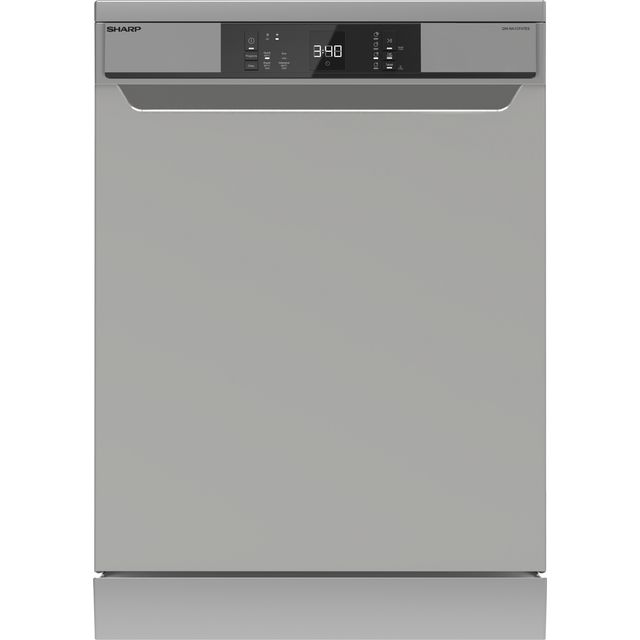 Sharp QW-NA1CF47ES-EN Standard Dishwasher - Silver - E Rated