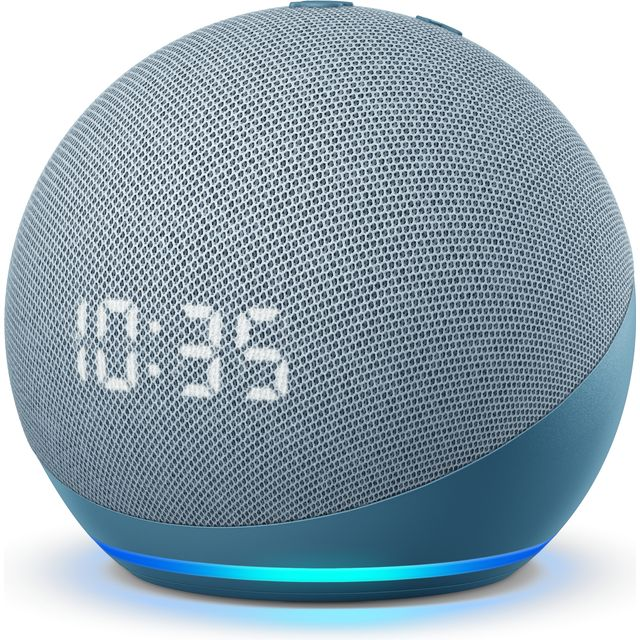 Image of Amazon Echo Dot (4th Gen) with Clock Smart Speaker with Amazon Alexa - Blue