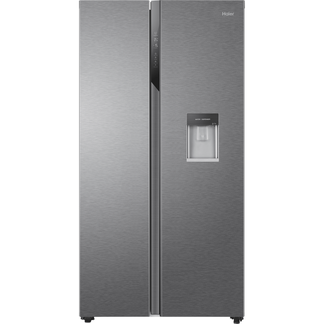 Haier HSR3918EWPG American Fridge Freezer - Silver - E Rated