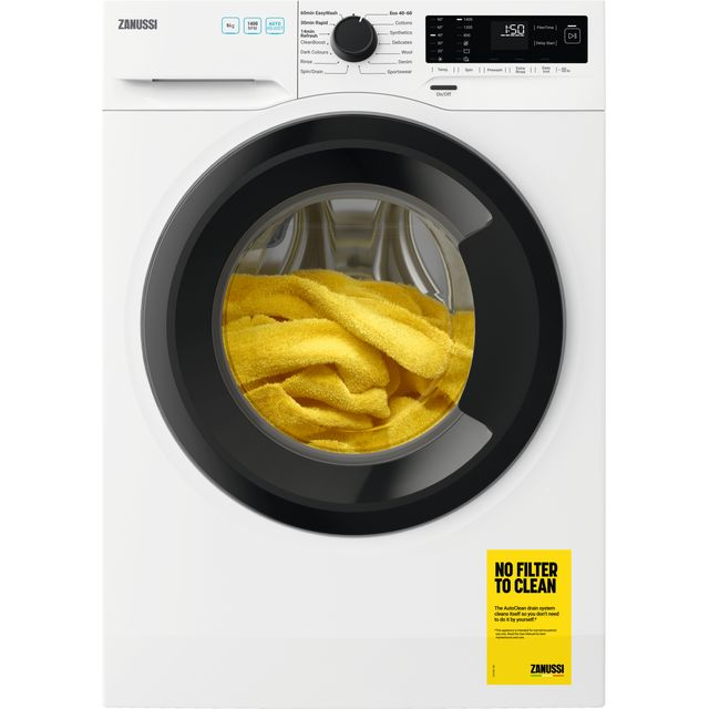 Zanussi ZWF943A2DG 9Kg Washing Machine with 1400 rpm - White - A+++ Rated