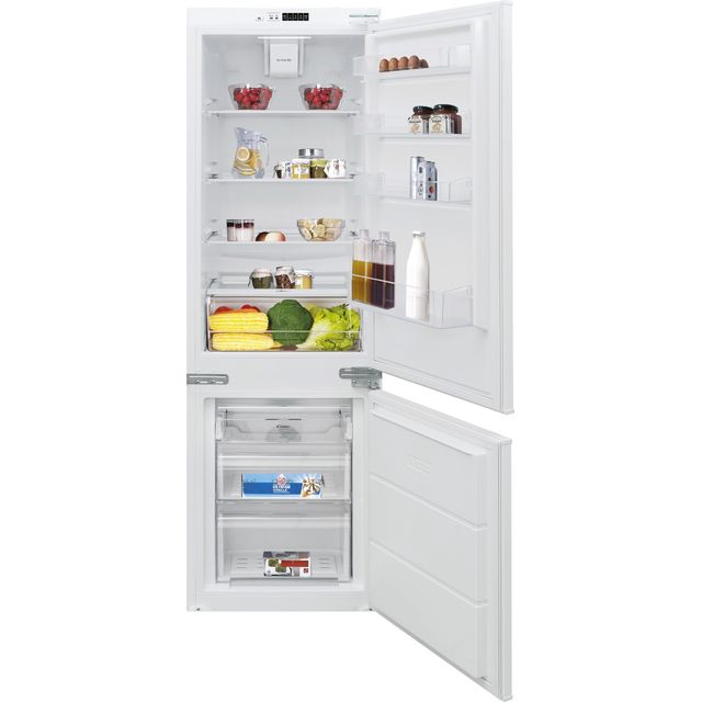 Candy BCBF174FTK/N Integrated 70/30 Frost Free Fridge Freezer with Door slider Kit - White - A++ Rated