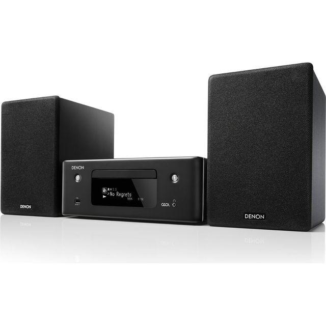 Image of Denon N-10GYE2GB 130 Watt Hi-Fi System with Bluetooth - Black