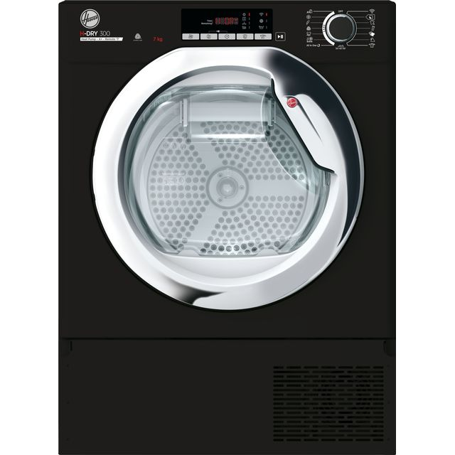 Image of Hoover BATDH7A1TCEB Integrated Wifi Connected 7Kg Heat Pump Tumble Dryer - Black - A+ Rated