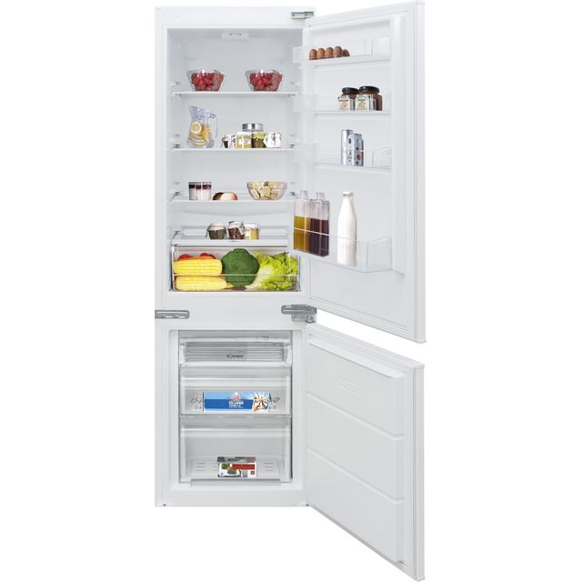 Candy BCBS172TK/N Integrated 70/30 Fridge Freezer with Door slider Kit - White - A+ Rated