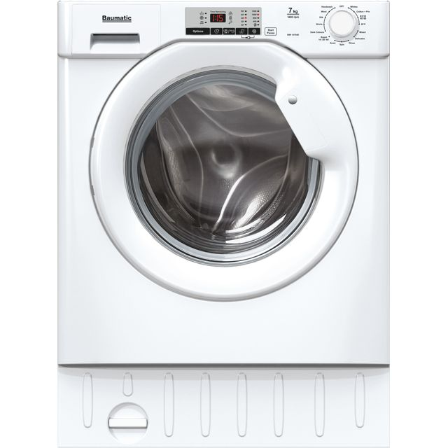 Baumatic BWI148D4E Built In 8Kg Washing Machine - White - BWI148D4E_WH - 1