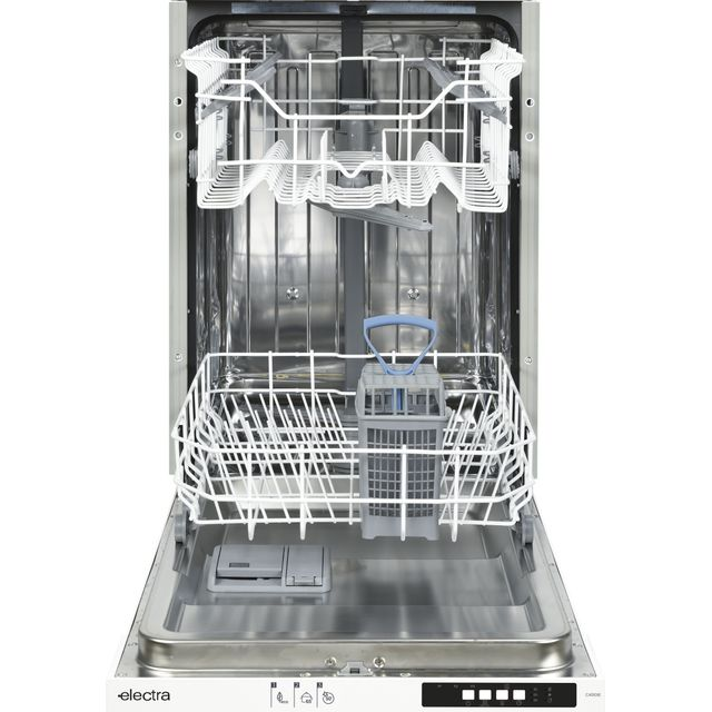 Electra C4510IE Fully Integrated Slimline Dishwasher - White Control Panel with Fixed Door Fixing Kit - E Rated