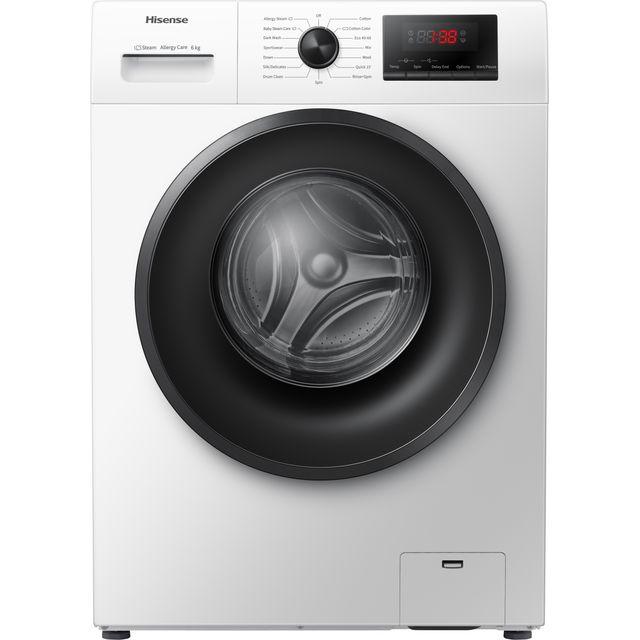 Hisense WFPV6012EM 6Kg Washing Machine with 1200 rpm - White - A+++ Rated