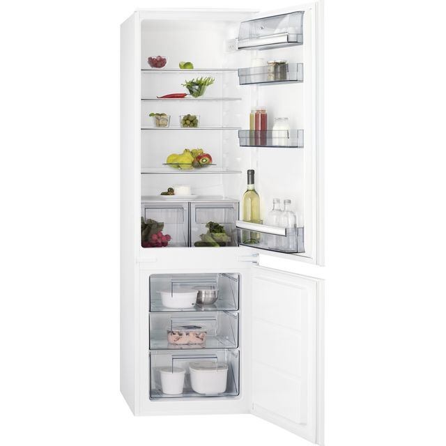 AEG SCB618F3LS Integrated 70/30 Fridge Freezer with Door slider Kit - White - A+ Rated