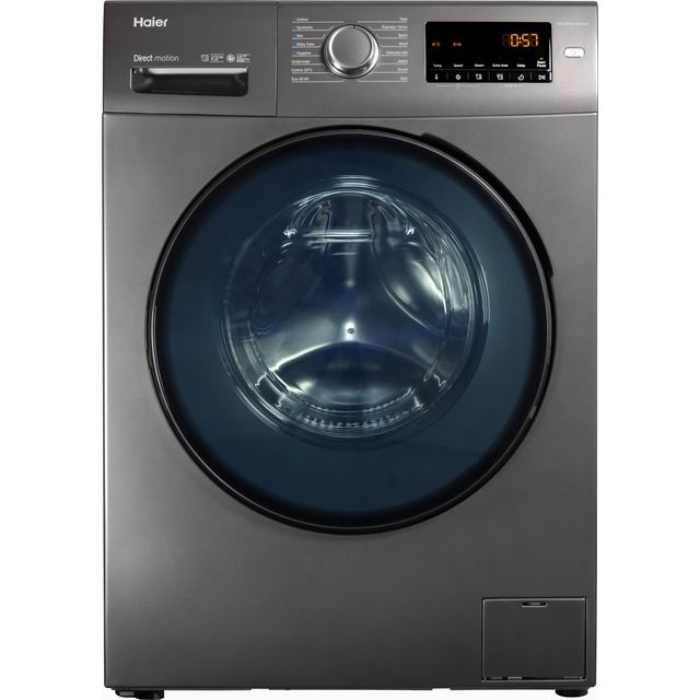 Haier HW100-B1439NS8 10Kg Washing Machine with 1400 rpm - Graphite - A Rated