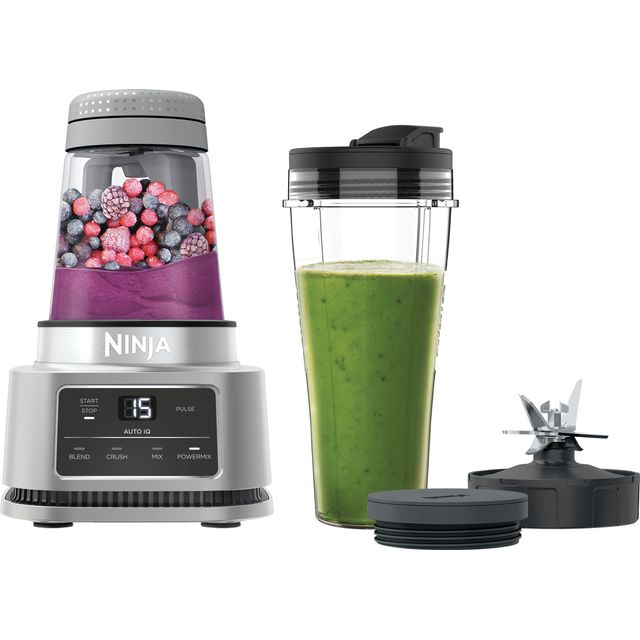 Ninja Foodi Power Nutri 2-in-1 CB100UK 0.7 Litre Blender with 3 Accessories - Silver