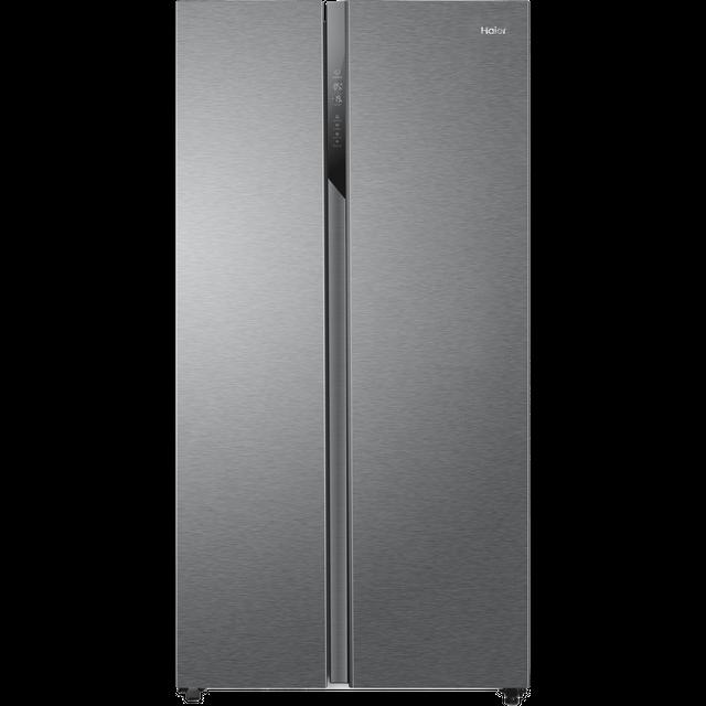 Haier HSR3918ENPG American Fridge Freezer - Silver - E Rated