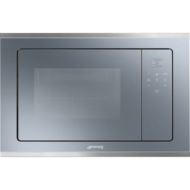 Smeg Cucina FMI420S2 Built In Combination microwave - Silver Glass - FMI420S2_SG - 1