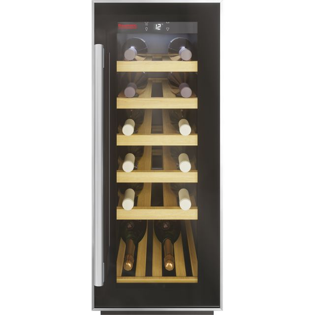Baumatic BWC305SS/3 Built In Wine Cooler - Black - F Rated