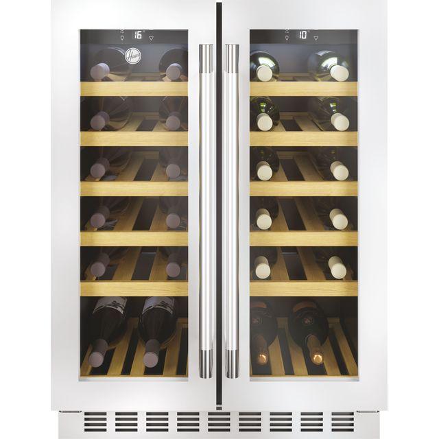 Hoover HWCB60DDUKSSM/N Built In Wine Cooler - Stainless Steel - G Rated