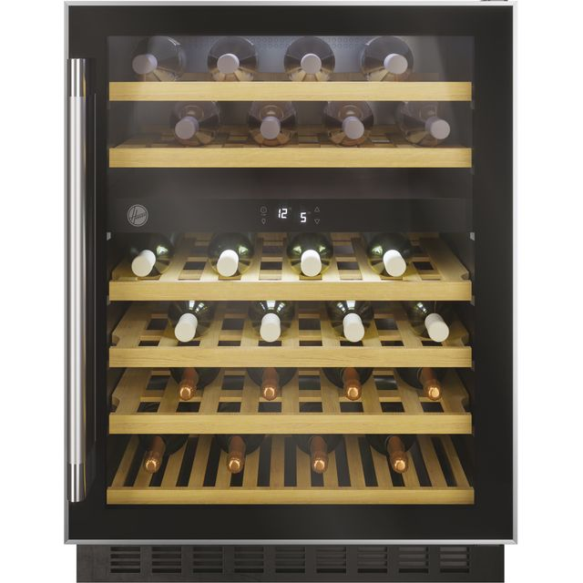 Hoover H-WINE 700 HWCB60UK/N Built In Wine Cooler - Black - G Rated