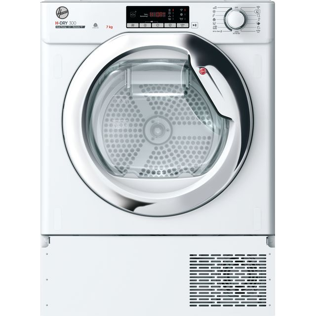 Hoover H-DRY 300 BATDH7A1TCE Integrated Wifi Connected 7Kg Heat Pump Tumble Dryer - White - A+ Rated